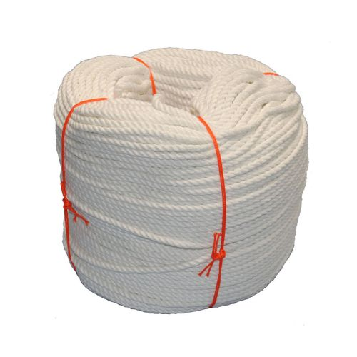 6mm White PolyCotton Rope - 220m coil