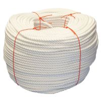 8mm White PolyCotton Rope - 220m coil