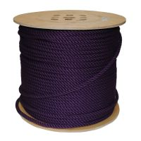 8mm Purple PolyCotton Rope sold on a 220m reel