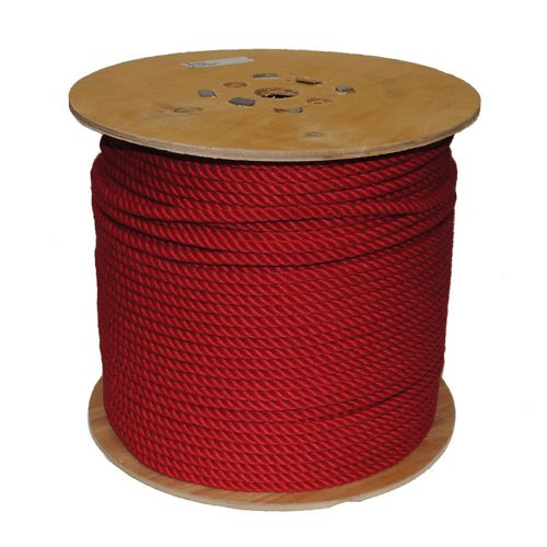 8mm Red PolyCotton Rope sold on a 220m reel