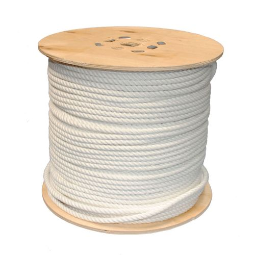 6mm White PolyCotton Rope sold on a 220m reel