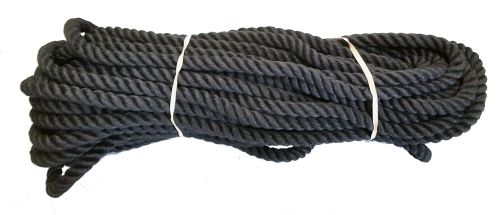 12mm Black Polyester Pet Lead/Barrier Rope - 24m coil