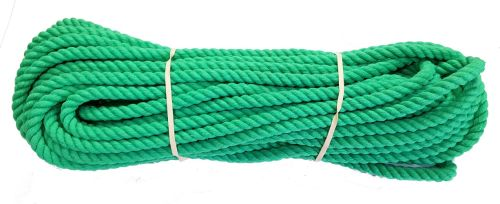 12mm Emerald Green Polyester Pet Lead Rope - 24m coil