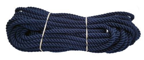 10mm Navy Blue PolyCotton Rope - 24m coil