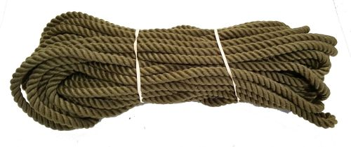 12mm Olive Green PolyCotton Rope - 24m coil