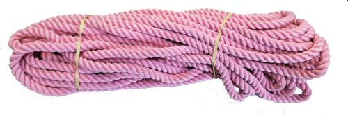 10mm Pink Polyester Pet Lead/Barrier Rope - 24m coil