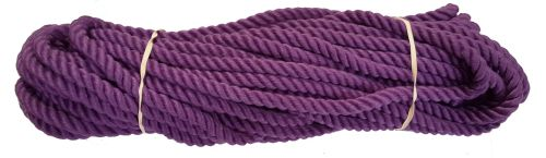 12mm Purple Polyester Pet Lead/Barrier Rope - 24m coil