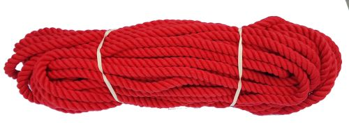 10mm Red Polyester Pet Lead/Barrier Rope - 24m coil