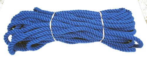 12mm Royal Blue Polyester Pet Lead Rope - 24m coil