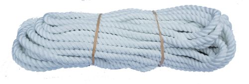 12mm White Polyester Pet Lead/Barrier Rope - 24m coil