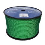 10mm Solid Green Braid on Braid Polyester 100m reel