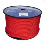 10mm solid Red Braid on Braid Polyester 100m reel