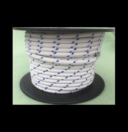 10mm Blue Fleck Matt Braided Polyester - 100m reel