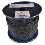 4mm x 100m Black 8-plait Polyester Cord