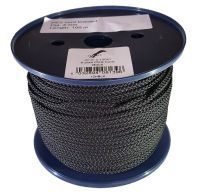 4mm x 100m Black 8-plait Polyester Cord