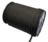 6mm 8-plait black polyester 100m reel