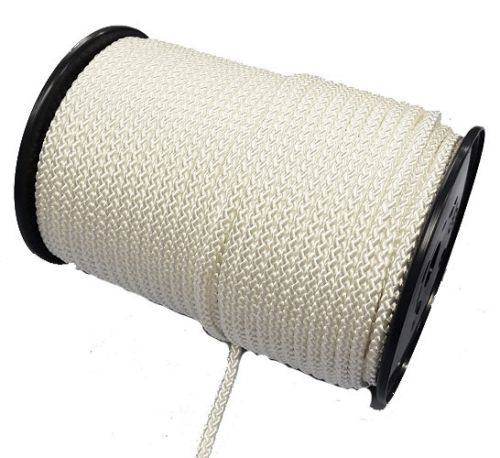 6mm 8-plait white polyester 100m reel