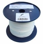 3mm White 8-plait Polyester Cord - 150m Reel
