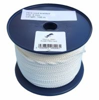 4mm x 100m White 8-plait Polyester Cord