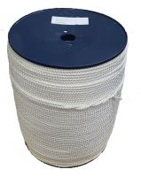 1,000m x 6mm 8-plait White Polyester Cord