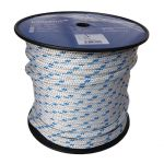 12mm Braid on Braid Blue Fleck Polyester Rope - 100m reel