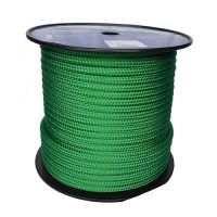 12mm Solid Green Braid on Braid Polyester 100m reel