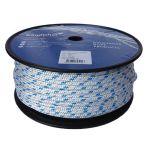8mm Braid on Braid Blue Fleck Polyester Rope - 100m reel