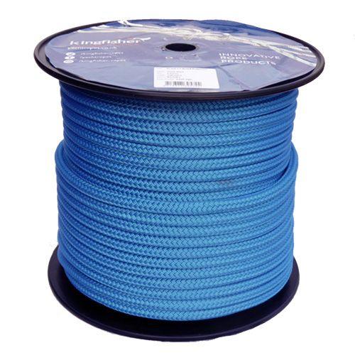 12mm Solid Blue Braid on Braid Polyester - 100m reel