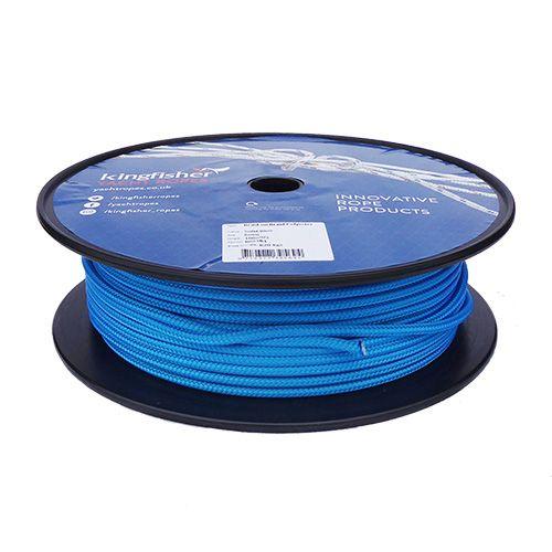 6mm Solid Blue Braid on Braid Polyester - 100m reel