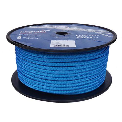 8mm Solid Blue Braid on Braid Polyester - 100m reel