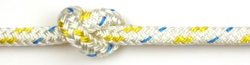 6mm Braid on Braid Yellow Fleck Polyester Rope per metre