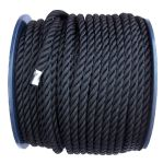 8mm Black Polyester Rope on a 100m reel