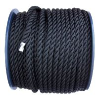 14mm Black Polyester Rope on a 100m reel