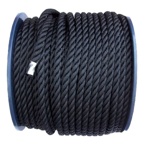 12mm Black Polyester Rope on a 100m reel