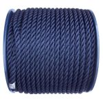 8mm Navy Blue Polyester Rope on a 100m reel