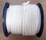 12mm White Polyester Rope sold on a 100 metre reel