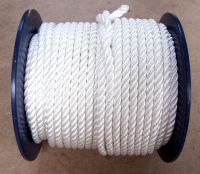 14mm White Polyester Rope sold on a 100 metre reel
