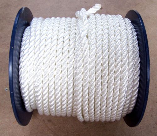 16mm White Polyester Rope sold on a 100 metre reel