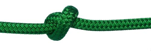 6mm Green Braid on Braid Polyester by the metre