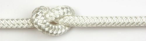 8mm White Braid on Braid Polyester sold by the metre