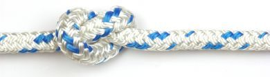 14mm Braid on Braid Blue Fleck Polyester Rope 100m reel