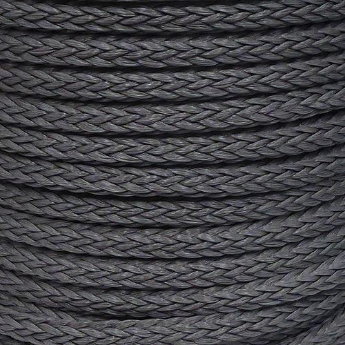 12mm Grey Hollow Braid Polyethylene sold by the metre