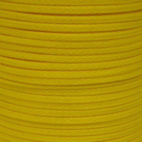 3mm Yellow Hollow Braid Polyethylene sold by the metre