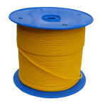 5mm Yellow Hollow Braid Polyethylene 100m Reel