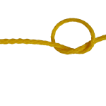 5mm Yellow Hollow Braid Polyethylene sold by the metre