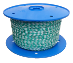 6mm White/Green Hollow Braid Polyethylene 200m Reel