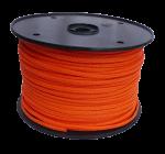 6mm Orange Hollow Braid Polyethylene 100m Reel