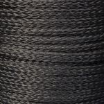 6mm Black Hollow Braid Polyethylene sold by the metre