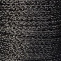 10mm Black Hollow Braid Polyethylene sold by the metre