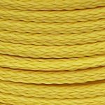 12mm Yellow Hollow Braid Polyethylene sold by the metre